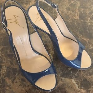Authentic Giuseppe Zanotti blue open toed sandal